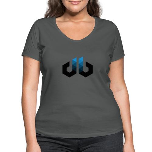 digitalbits Logo - Frauen Bio-T-Shirt mit V-Ausschnitt von Stanley & Stella