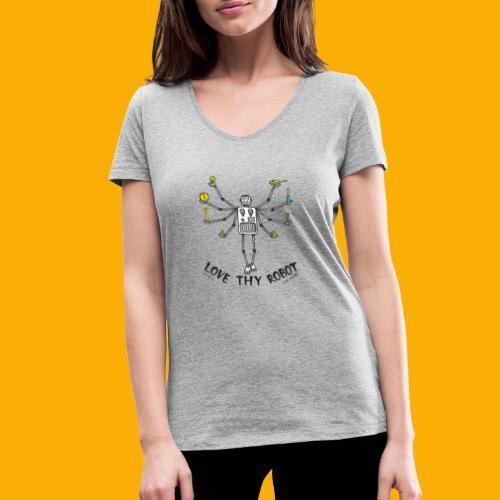 Dat Robot: Love Thy Robot shiva Light - Vrouwen bio T-shirt met V-hals van Stanley & Stella