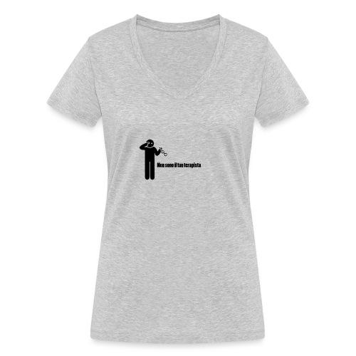 Terapista - T-shirt ecologica da donna con scollo a V di Stanley & Stella