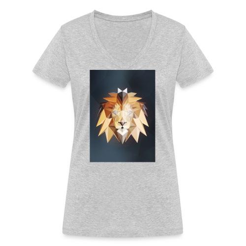 Polygon Lion - Frauen Bio-T-Shirt mit V-Ausschnitt von Stanley & Stella