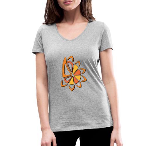 spicchi di sole caldo multicolore - T-shirt ecologica da donna con scollo a V di Stanley & Stella