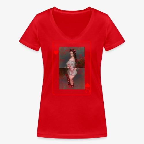 Kaiserin Sissi spielkarte Österreich - Frauen Bio-T-Shirt mit V-Ausschnitt von Stanley & Stella