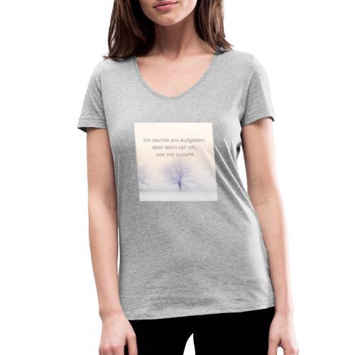 Niemals aufgeben - Frauen Bio-T-Shirt mit V-Ausschnitt von Stanley & Stella