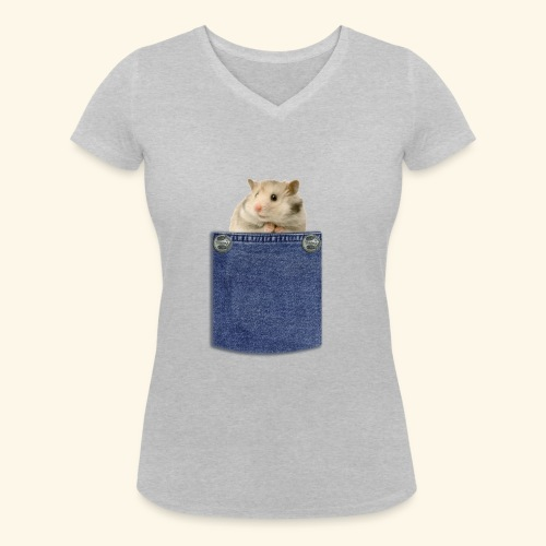 hamster in the poket - T-shirt ecologica da donna con scollo a V di Stanley & Stella