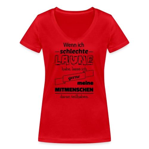 Schlechte Laune - Frauen Bio-T-Shirt mit V-Ausschnitt von Stanley & Stella