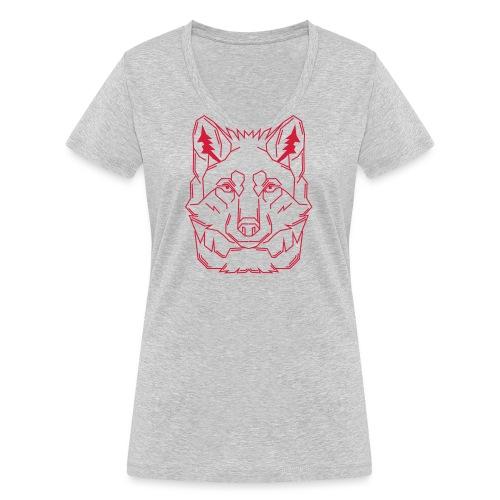 Red Wolf - Frauen Bio-T-Shirt mit V-Ausschnitt von Stanley & Stella