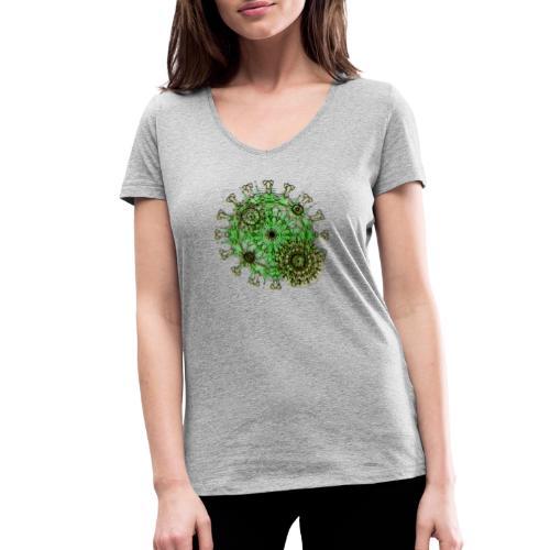 Virus 150220 ds. A - Women's Organic V-Neck T-Shirt by Stanley & Stella