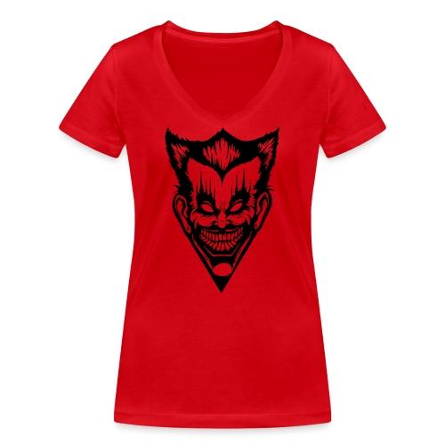 Horror Face - Frauen Bio-T-Shirt mit V-Ausschnitt von Stanley & Stella