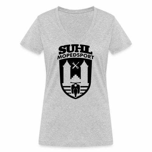 Suhl Mopedsport Schwalbe 2 Logo - Women's Organic V-Neck T-Shirt by Stanley & Stella