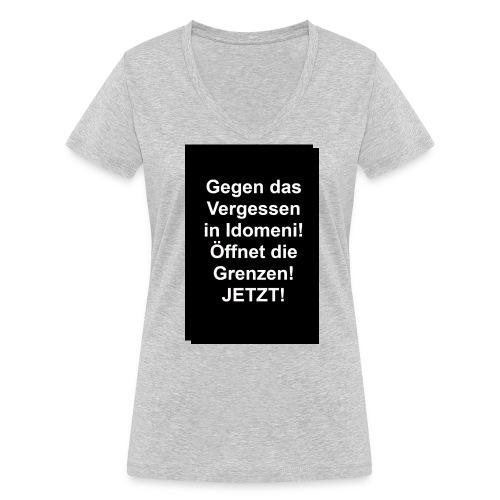 Gegen das Vergessen - Frauen Bio-T-Shirt mit V-Ausschnitt von Stanley & Stella