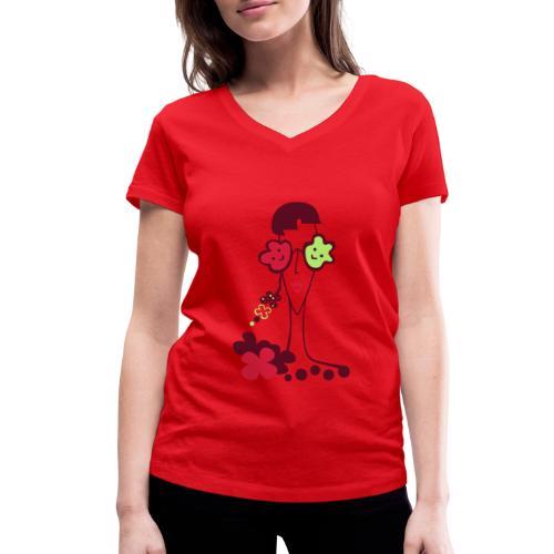 Matilde - T-shirt ecologica da donna con scollo a V di Stanley & Stella