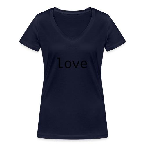 love - Ekologisk T-shirt med V-ringning dam från Stanley & Stella
