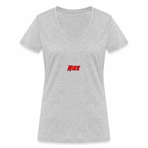 Niek Red - Vrouwen bio T-shirt met V-hals van Stanley & Stella