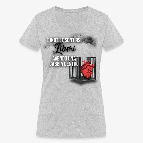 Rap Art ITA BRAND - T-shirt ecologica da donna con scollo a V di Stanley & Stella