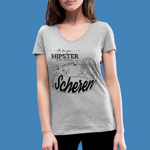 Ik ben geen hipster - Vrouwen bio T-shirt met V-hals van Stanley & Stella