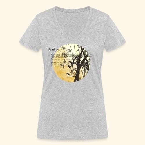 Bamboo - Ekologisk T-shirt med V-ringning dam från Stanley & Stella
