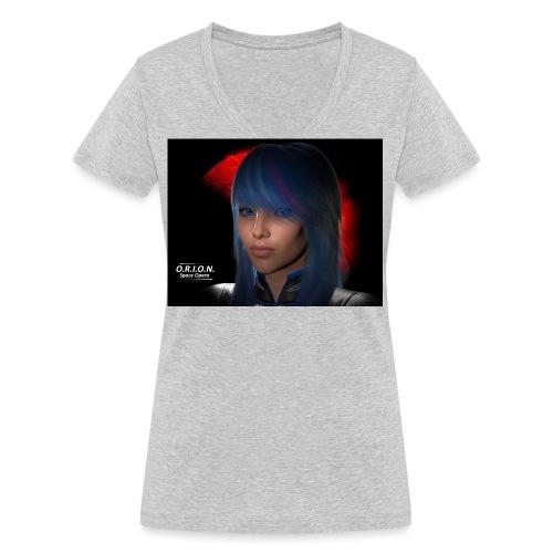 skyblue3riesig - Frauen Bio-T-Shirt mit V-Ausschnitt von Stanley & Stella