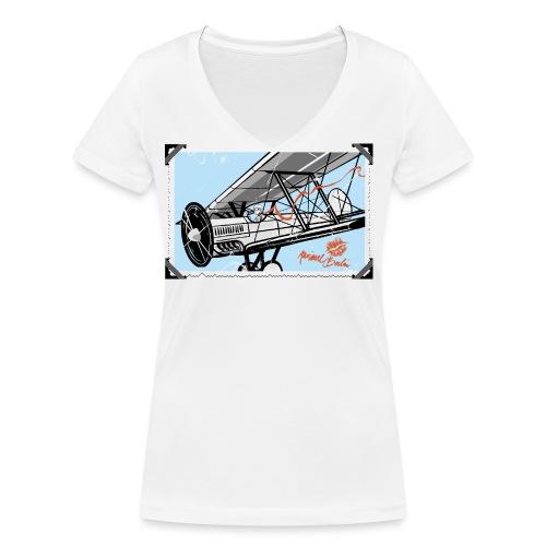 Doppeldecker - Frauen Bio-T-Shirt mit V-Ausschnitt von Stanley & Stella