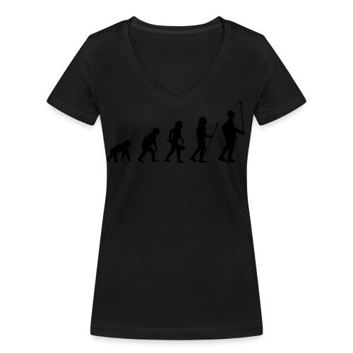 Stabführer Evolution - Frauen Bio-T-Shirt mit V-Ausschnitt von Stanley & Stella