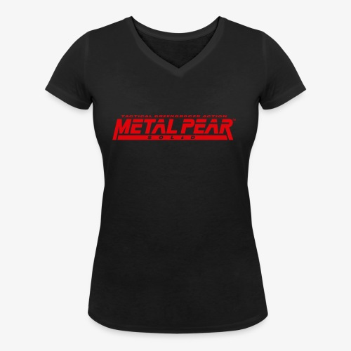 Metal Pear Solid: Tactical Greengrocer Action - Women's Organic V-Neck T-Shirt by Stanley & Stella