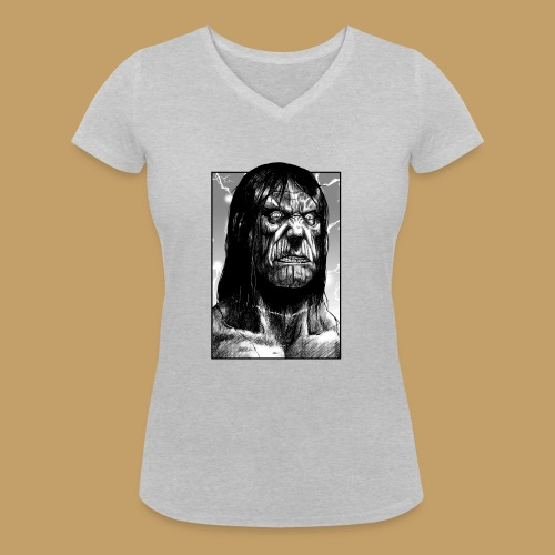 Frankenstein's Monster - Ekologiczna koszulka damska z dekoltem w serek Stanley & Stella