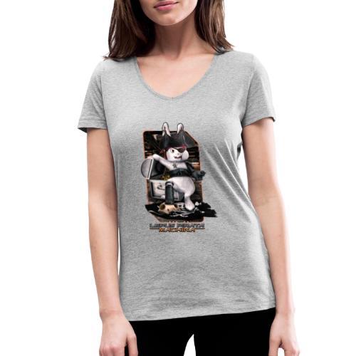 Lepus Pirata Machina - Vrouwen bio T-shirt met V-hals van Stanley & Stella