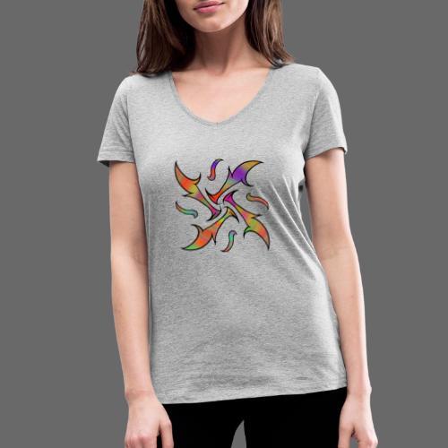 Hypnotisches Tribalmuster - Frauen Bio-T-Shirt mit V-Ausschnitt von Stanley & Stella
