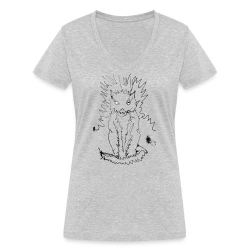 der graue Katzer - Frauen Bio-T-Shirt mit V-Ausschnitt von Stanley & Stella