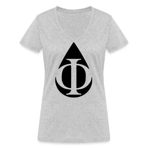 AquaPhi Logo (no-txt) - Women's Organic V-Neck T-Shirt by Stanley & Stella