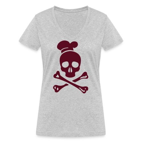 cannibal cook vector - Frauen Bio-T-Shirt mit V-Ausschnitt von Stanley & Stella