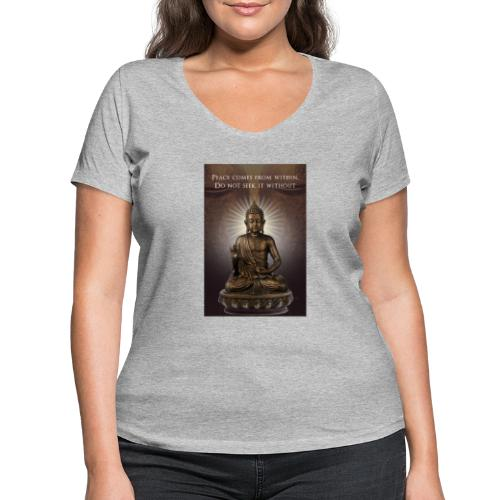 Peace from Within - Women's Organic V-Neck T-Shirt by Stanley & Stella