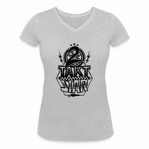 2-Takt-Star / Zweitakt-Star - Women's Organic V-Neck T-Shirt by Stanley & Stella