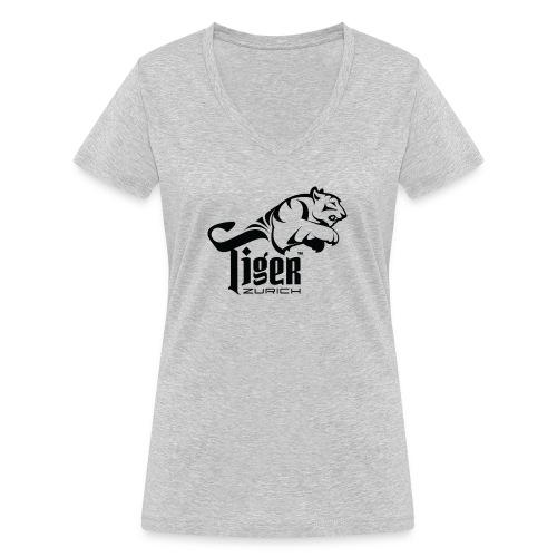 TIGER ZURICH digitaltransfer - Frauen Bio-T-Shirt mit V-Ausschnitt von Stanley & Stella