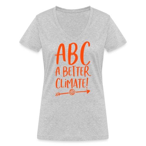 ABC a better climate - my days for future - Frauen Bio-T-Shirt mit V-Ausschnitt von Stanley & Stella