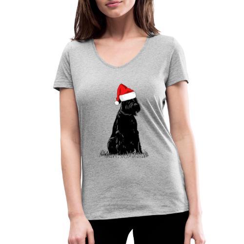 Riesenschnauzer Weihnachten Schnauzer Hund - Frauen Bio-T-Shirt mit V-Ausschnitt von Stanley & Stella
