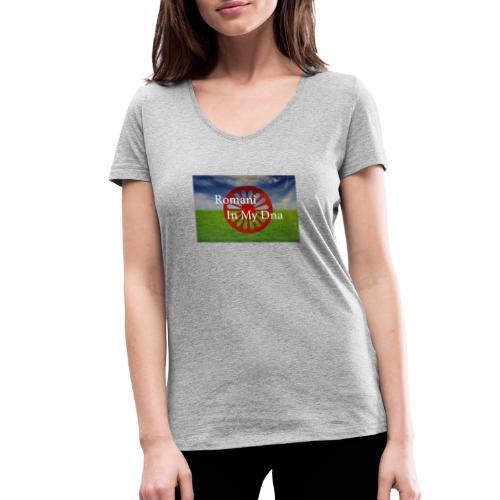 flagromaniinmydna - Ekologisk T-shirt med V-ringning dam från Stanley & Stella