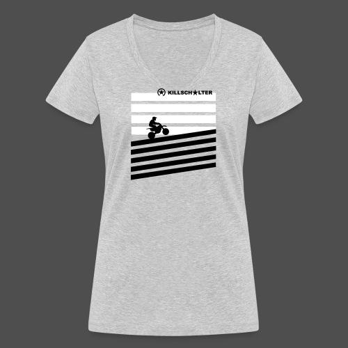 DIRT BIKE RIDER 0DR01 - Women's Organic V-Neck T-Shirt by Stanley & Stella