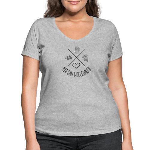 MiaSanHolledauerMadl - Frauen Bio-T-Shirt mit V-Ausschnitt von Stanley & Stella