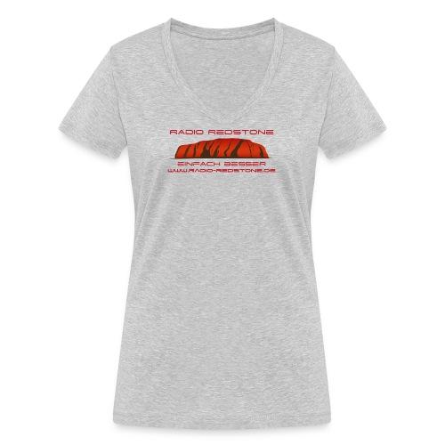 radio redstone logo url png - Frauen Bio-T-Shirt mit V-Ausschnitt von Stanley & Stella