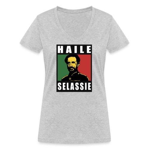 Haile Selassie - Rastafari - Reggae - Rasta - Frauen Bio-T-Shirt mit V-Ausschnitt von Stanley & Stella