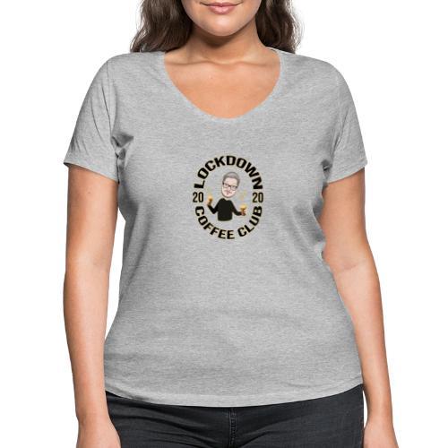 Lockdown Coffee Club 2020 - Women's Organic V-Neck T-Shirt by Stanley & Stella