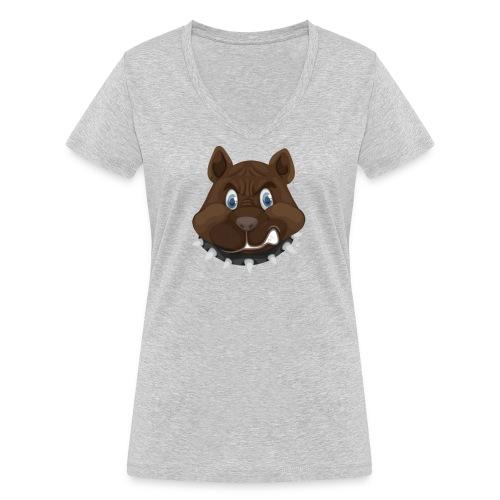 PERRO ENFADADO - Camiseta ecológica mujer con cuello de pico de Stanley & Stella