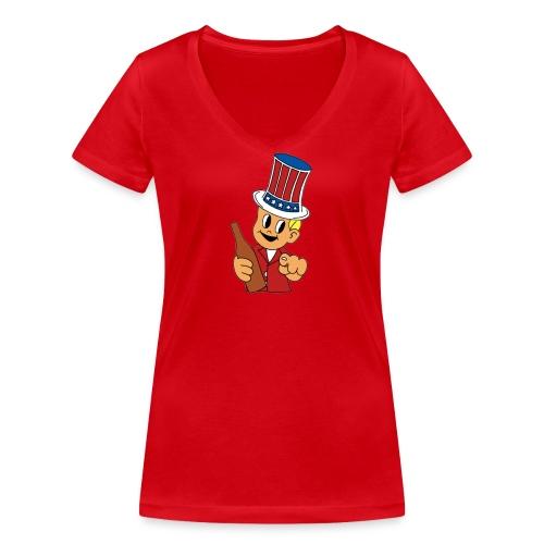 Anchorman Milk was a bad choice - Stanley & Stellan naisten v-aukkoinen luomu-T-paita