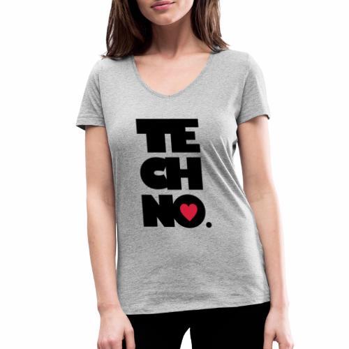 Techno Herz - Frauen Bio-T-Shirt mit V-Ausschnitt von Stanley & Stella