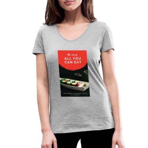 all you can - T-shirt ecologica da donna con scollo a V di Stanley & Stella
