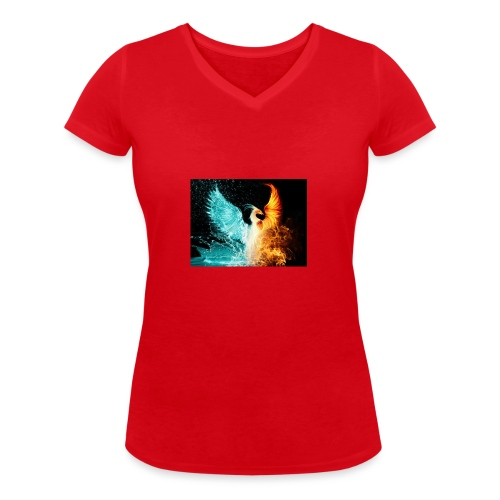 Elemental phoenix - Women's Organic V-Neck T-Shirt by Stanley & Stella