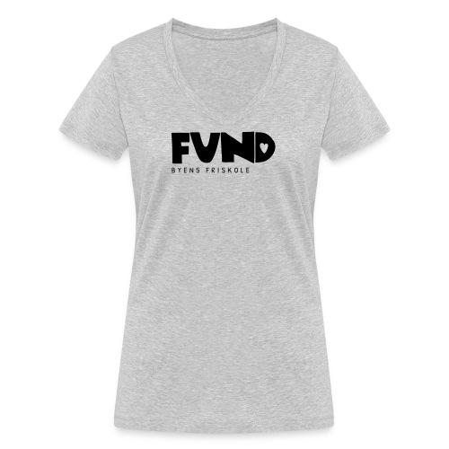 FUND Friskole - Økologisk Stanley & Stella T-shirt med V-udskæring til damer