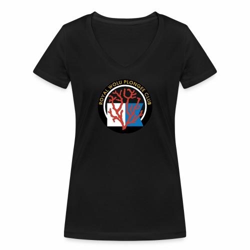 Royal Wolu Plongée Club - T-shirt bio col V Stanley & Stella Femme