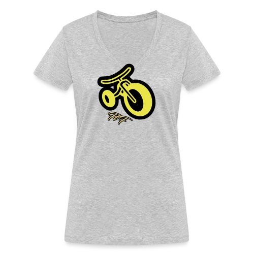 3CYCLE yellow - T-shirt ecologica da donna con scollo a V di Stanley & Stella