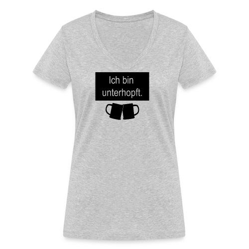 unterhopft - Frauen Bio-T-Shirt mit V-Ausschnitt von Stanley & Stella